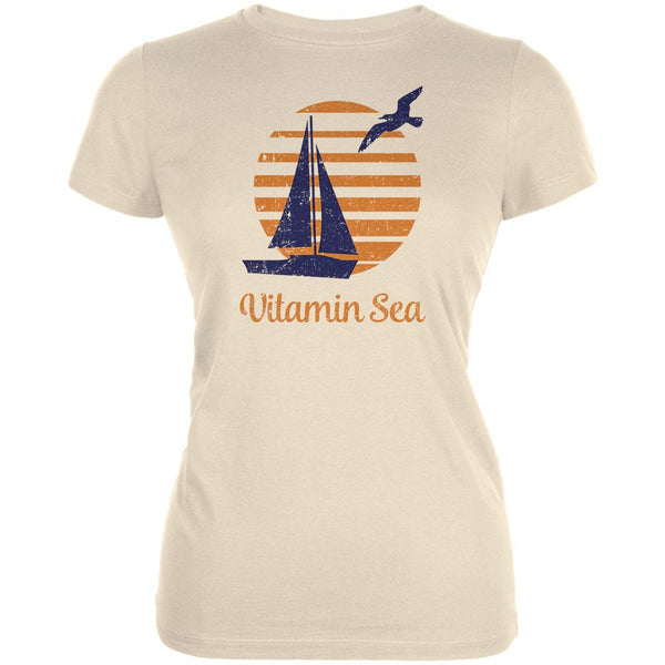 Summer Sun Vitamin Sea Sailboat Juniors Soft T Shirt