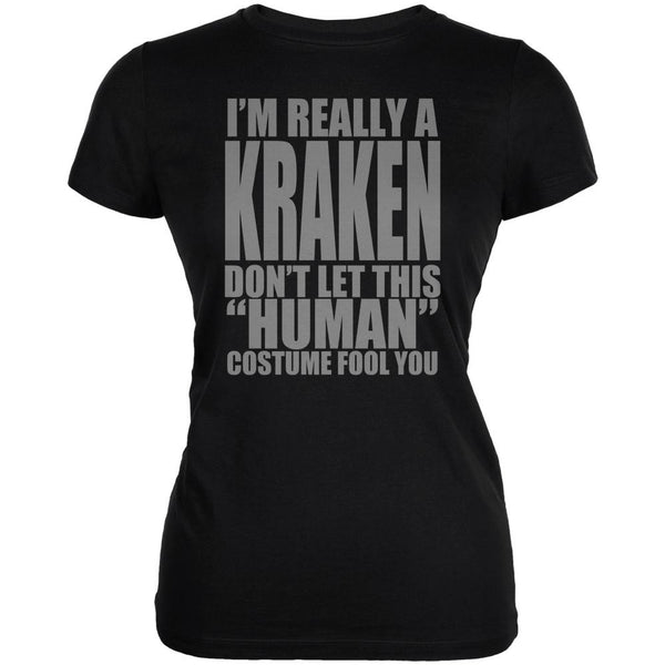 Halloween Human Kraken Costume Juniors Soft T Shirt