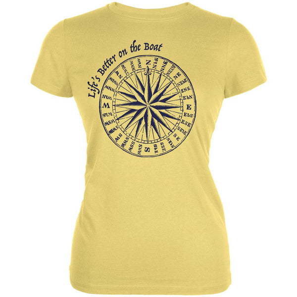 Summer Sun Life's Better on the Boat Juniors Soft T Shirt