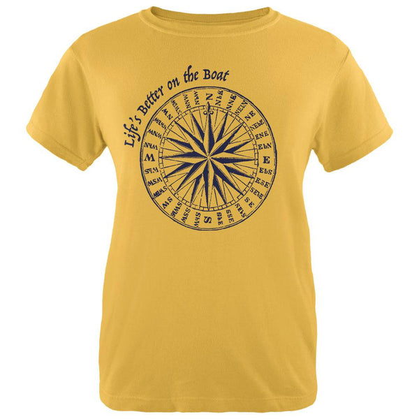 Summer Sun Life's Better on the Boat Womens T Shirt