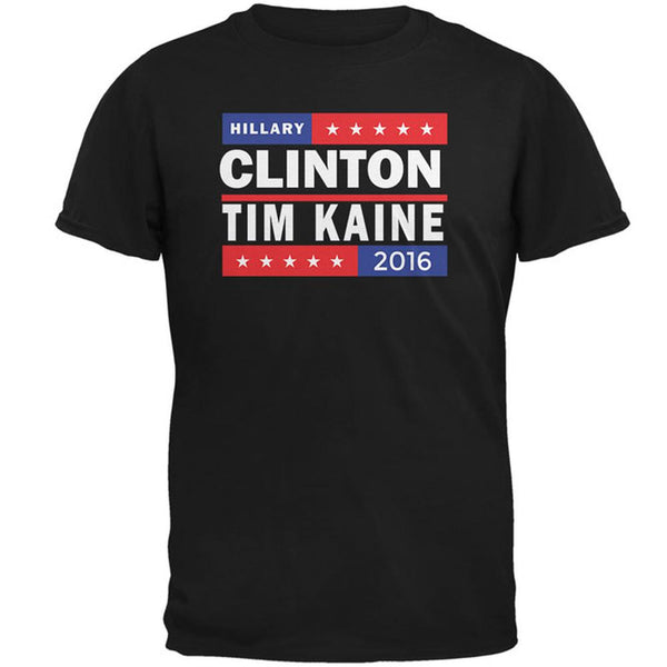 Election 2016 Stacked Logo Clinton Kaine Mens T Shirt