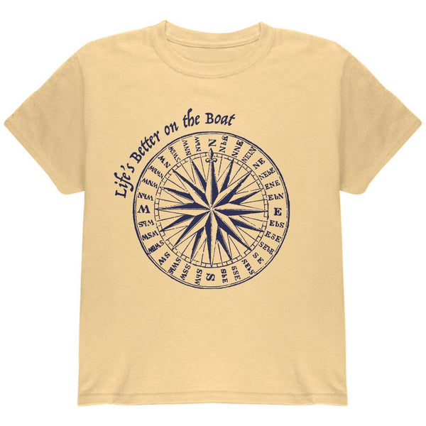 Summer Sun Life's Better on the Boat Youth T Shirt