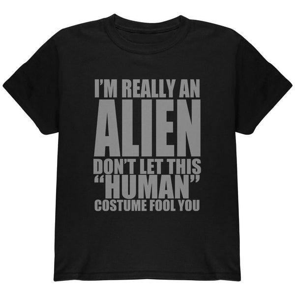 Halloween Human Alien Costume Youth T Shirt