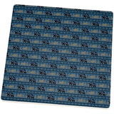 Grizzly Bear Adirondack Pattern Blue Square Sandstone Coaster