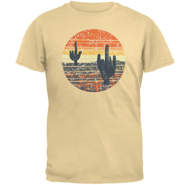 Vintage Cactus Sunset Mens T Shirt