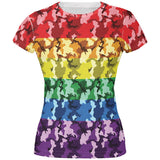 LGBT Camo Pride In The Military All Over Juniors T Shirt
