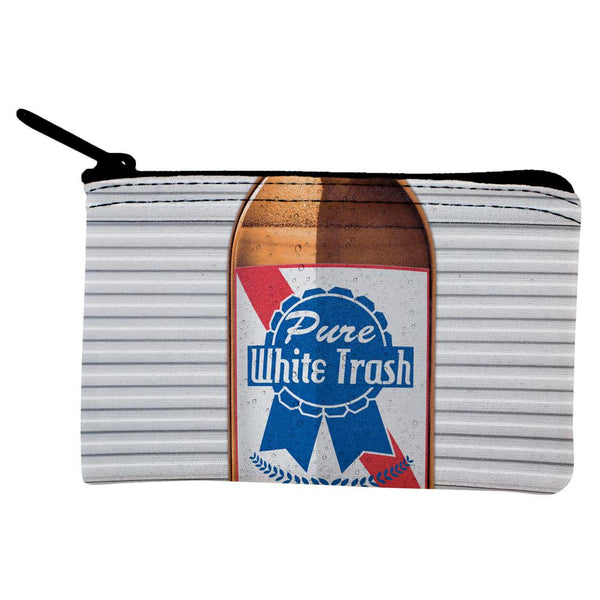 Halloween Pure White Trash Beer Coin Purse