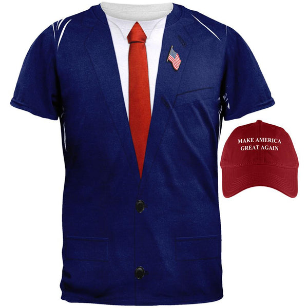 Halloween Election Donald Trump Costume Shirt And Hat Bundle