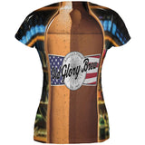 Halloween Old Glory Brew Beer Bottle Costume All Over Juniors T Shirt