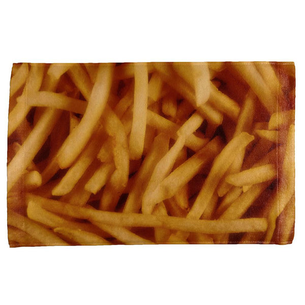Fast Food Golden French Fries All Over Hand Towel