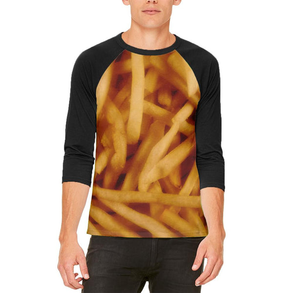 Fast Food Golden French Fries Mens Raglan T Shirt