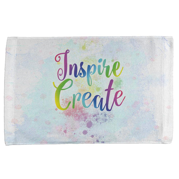 Inspire and Create Pastel Half Tone Art All Over Hand Towel