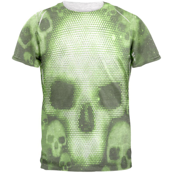 Halloween Cyber Space Alien Skull Mens T Shirt