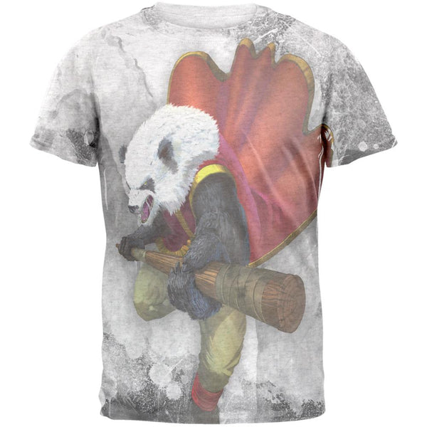 Panda Warrior Monk Mens T Shirt