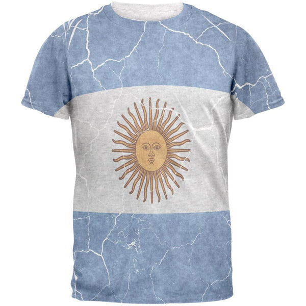 Distressed Argentina Flag Mens T Shirt