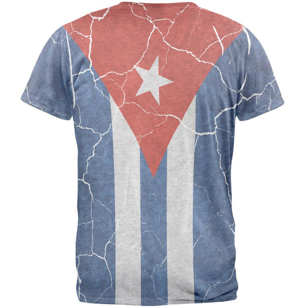 Distressed Cuban Flag Mens T Shirt