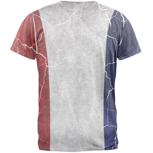 Distressed French Flag Mens T Shirt