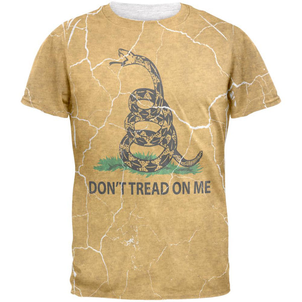 Distressed Gadsden Flag Mens T Shirt