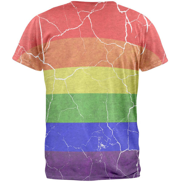 Distressed Gay Pride Flag Mens T Shirt