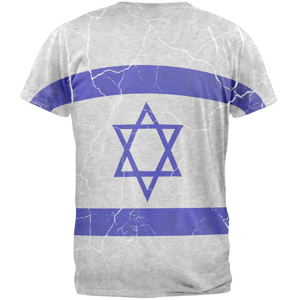 Distressed Israeli Flag Mens T Shirt