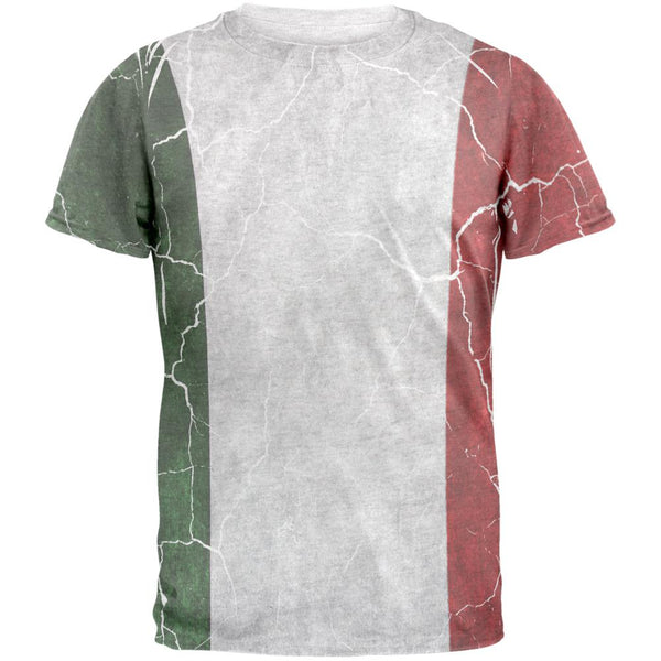 Distressed Italian Flag Mens T Shirt