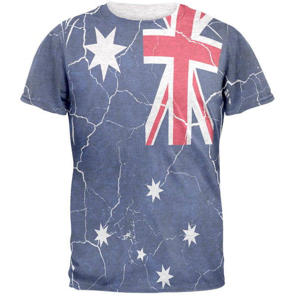 Distressed Australian Flag Mens T Shirt