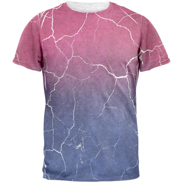 Distressed Bi-Sexual Gradient Flag Mens T Shirt