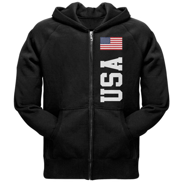 USA Flag World Cup Adult Zip Hoodie