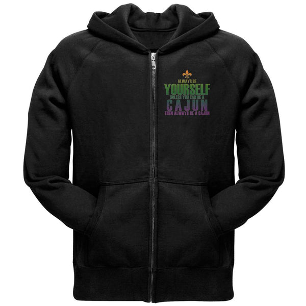 Mardi Gras Always Be Yourself Cajun Adult Full-Zip Hoodie