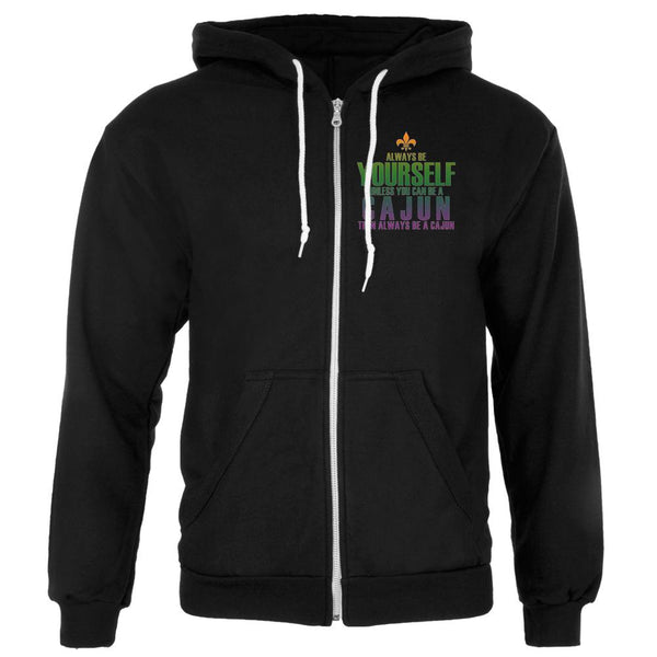 Mardi Gras Always Be Yourself Cajun Mens Full Zip Hoodie
