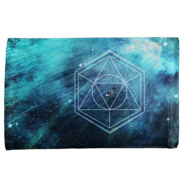 Surfing Sacred Cosmic Waves All Over Hand Towel