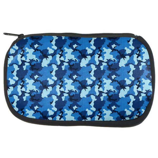 Navy Blue Camo Makeup Bag
