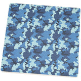 Navy Blue Camo Square Sandstone Coaster