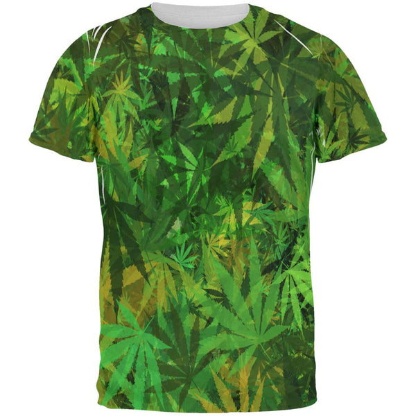 Weed Pot Leaf Camo All Over Mens T Shirt