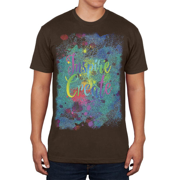 Inspire and Create Half Tone Paint Art Mens T Shirt
