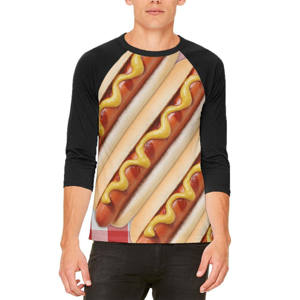 Hot Dog Picnic Mens Raglan T Shirt