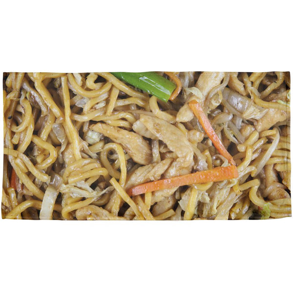 Chicken Lo Mein All Over Beach Towel