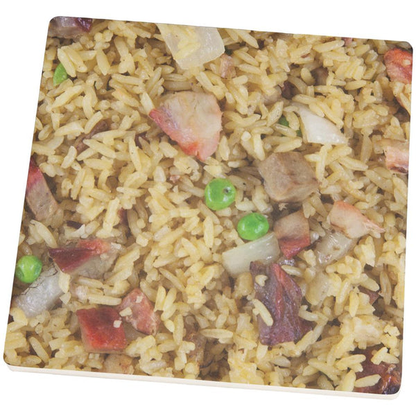 Pork Fried Rice Square Sandstone Coaster
