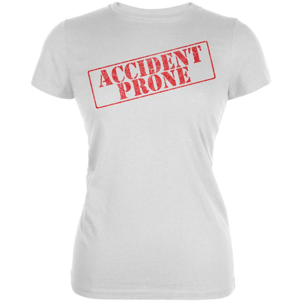Accident Prone Funny Juniors Soft T Shirt