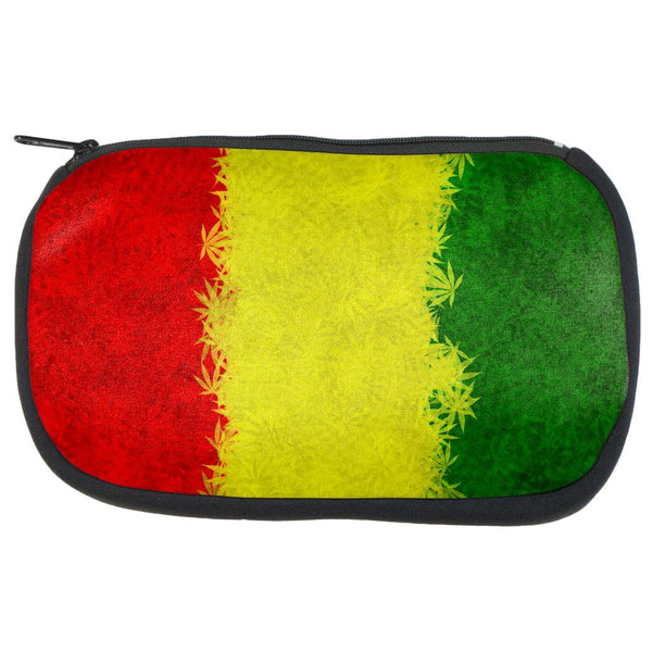 Rasta Pot Leaf One Love Tie Dye Travel Bag