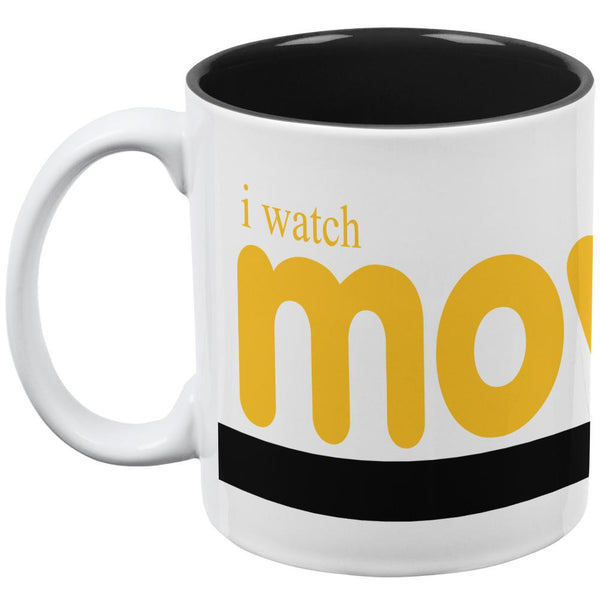 Movies Because Real Life Sucks All Over Coffee Mug