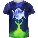 Wiccan Moon Goddess Mother Earth Symbol All Over Mens T Shirt