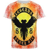 Legends Never Die Phoenix Fire Birthday All Over Mens T Shirt
