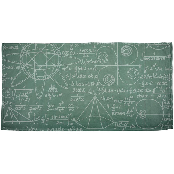 Math Geek Formulas All Over Beach Towel