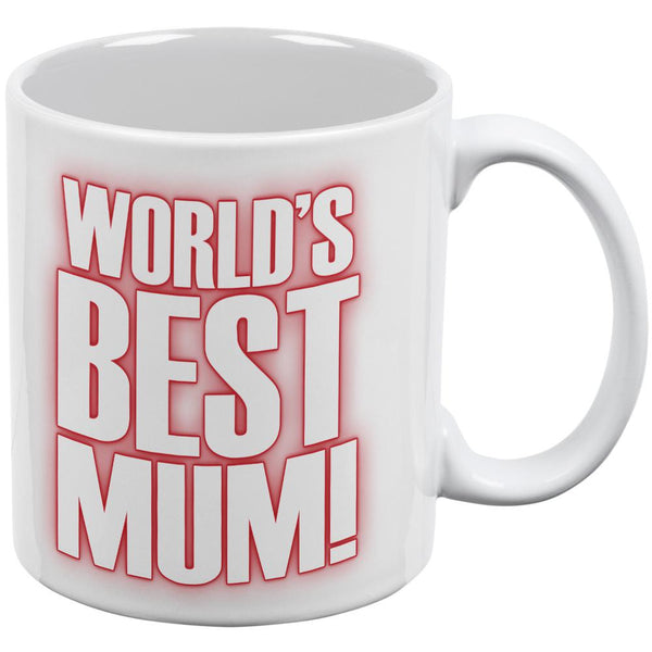 World's Best Mum Mom British Flag Heart All Over Coffee Mug