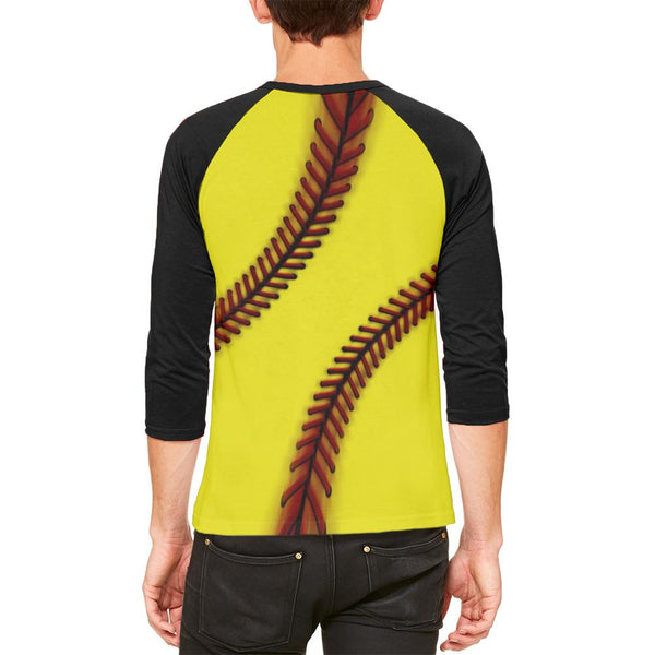 Fastpitch Softball Mens Raglan T Shirt