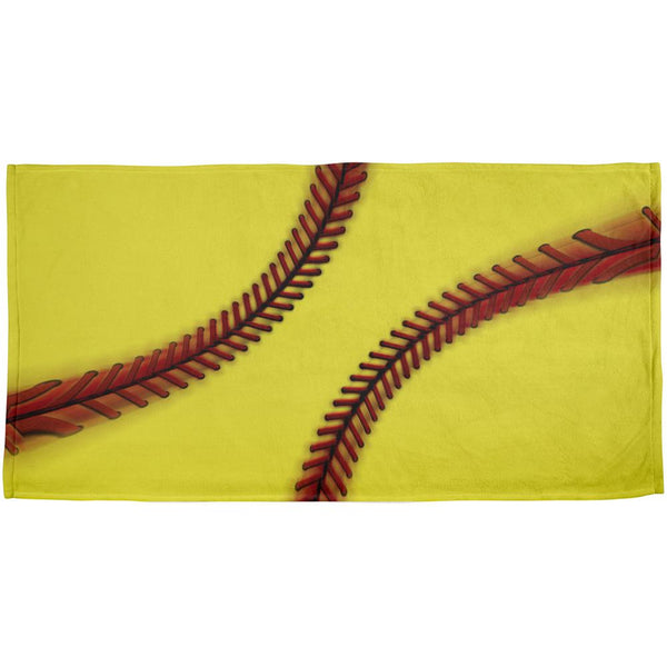 Fastpitch Softball All Over Beach Towel