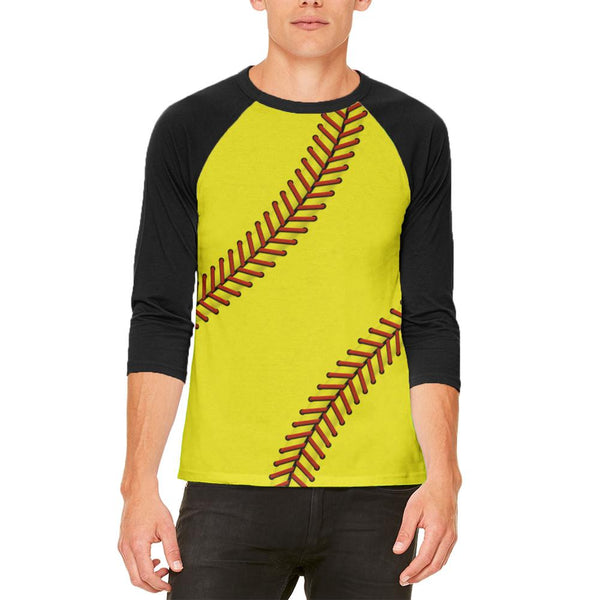 Softball Mens Raglan T Shirt