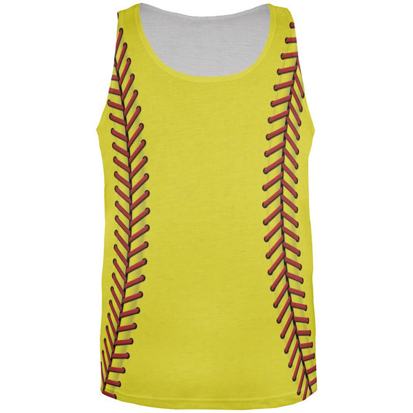 Softball All Over Mens Tank Top