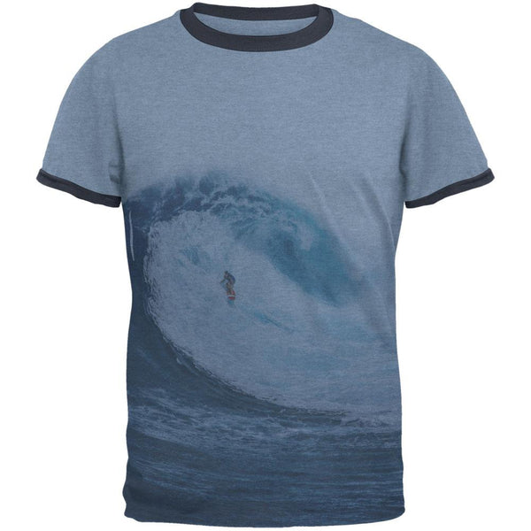 Summer Sun Surfer Pipeline Mens Ringer T Shirt